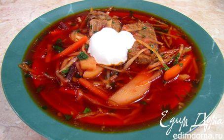 Рецепт Борщ по рецепту прабабушки (со способом приготовления мясного бульона)