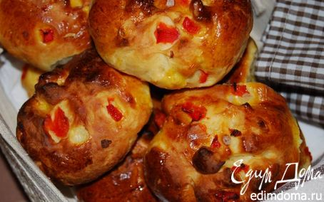 Рецепт Булочки с рикоттой и сладким красным перцем