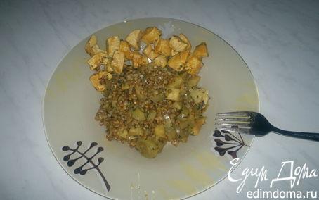 Рецепт Гречетто вариант номер четыре с корнем сельдерея и шалотом + грудка индейки с французской горчице...
