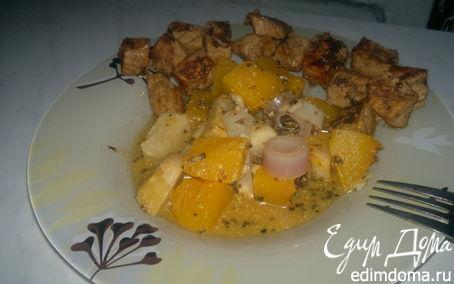 Рецепт Французское горчичное овощное рагу и сладкая свиная корейка