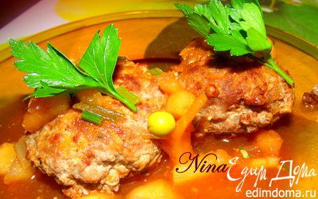 Рецепт Мясные котлеты с необычным подливом из яблока
