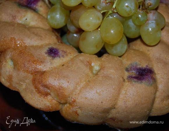 Винный кекс с виноградом