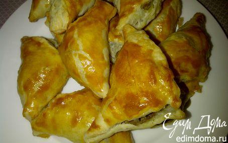 Рецепт Слоеные пирожочки с домашним печеночным паштетом