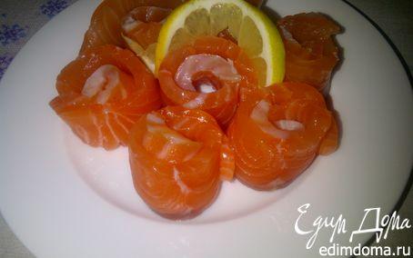 Рецепт Слабосоленая семга