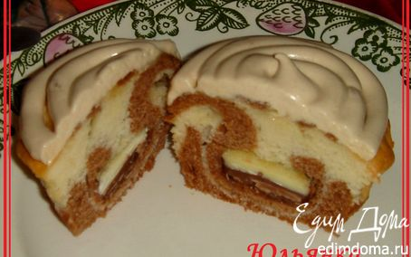 Рецепт Маффины бисквитные с молочно-белым шоколадом