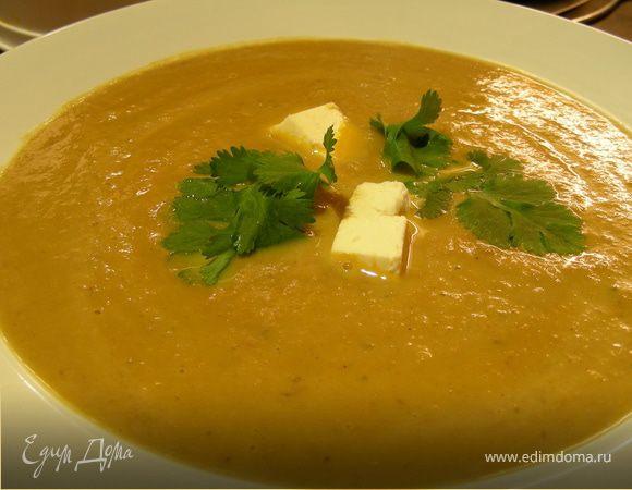 Нежный суп-пюре биск из овощей и каштанов