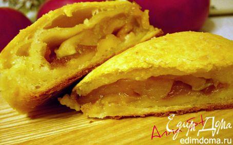 Рецепт Творожные слойки с яблоками