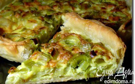 Рецепт Пирог с луком-пореем