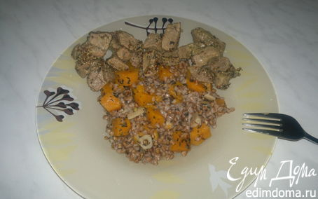 Рецепт Гречотто с тыквой и чесноком и говядина тушеная в 5 видах перца и французской горчицей.