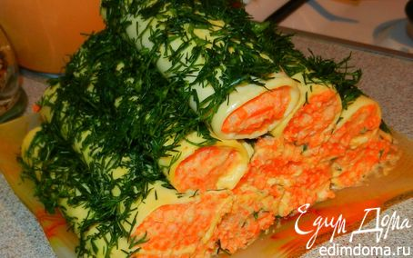 Рецепт Сырные трубочки с острым кремом