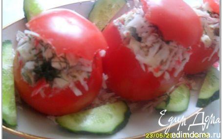 Рецепт Фаршированные помидоры с печенью трески