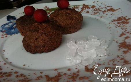 Рецепт Овсяное печенье из Геркулеса с чёрным шоколадом и кокосовой стружкой