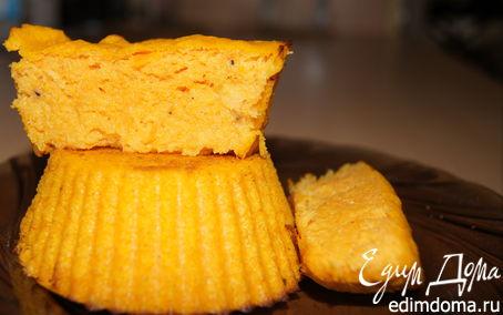 Рецепт Кукурузные кексы с тыквой и имбирем