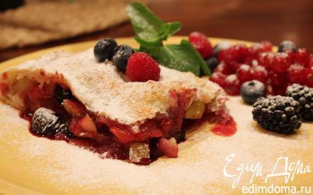 Рецепт Штрудель с яблоками и ягодами tescoma