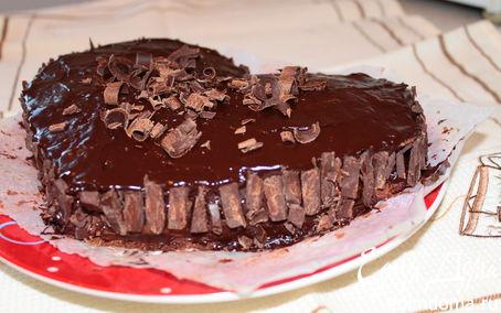 """Рецепт Шоколадно-бананово-творожный торт """"Шикарный"""""""