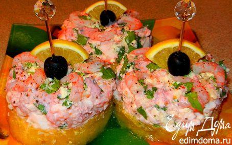 Рецепт Креветки на ананасе