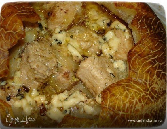 Куриное филе в дыне