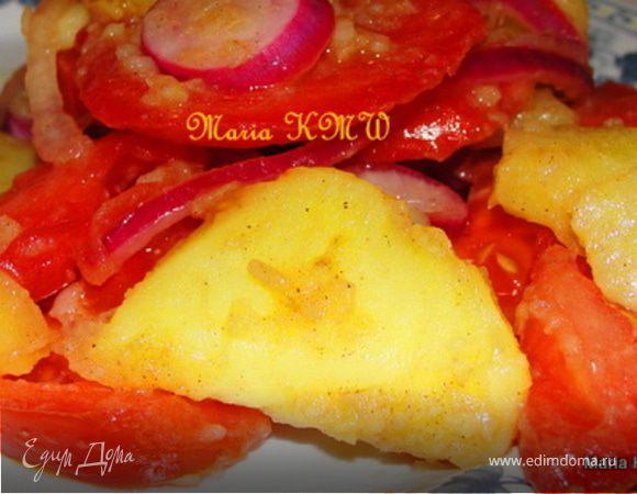 Салат картофельный с помидорами