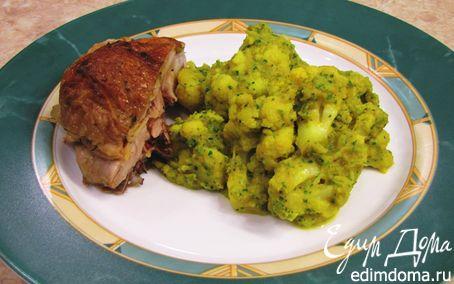 Рецепт Цветная капуста с овощным соусом