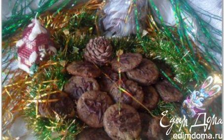 Рецепт Шоколадное печенье с вишней. Tescoma
