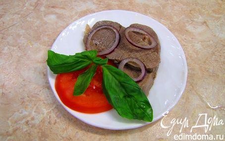Рецепт Телятина, маринованная в соусе Винегрет с репчатым луком