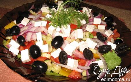 Рецепт Мой фирменный греческий салат.