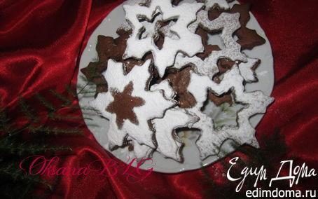 """Рецепт Печенье""""Шоколадные снежинки. С Новым годом.)"""""""