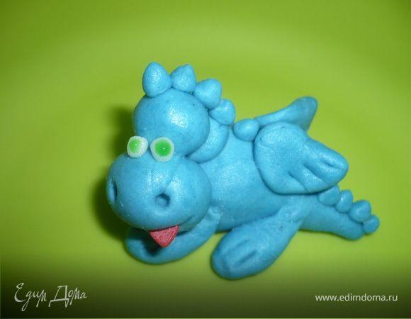 Водяной дракон из мастики