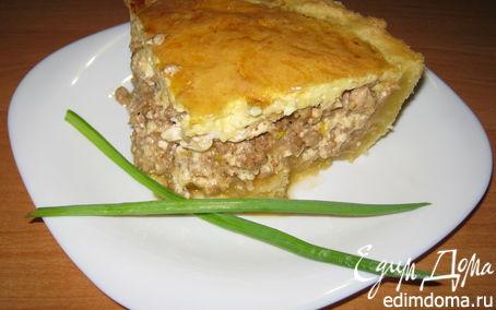 Рецепт Киш с мясом и сыром рикотта.