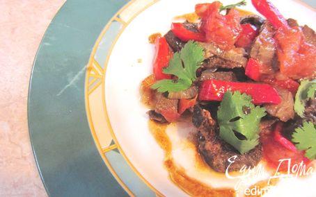 Рецепт Свиное сердце с овощами по-ресторанному