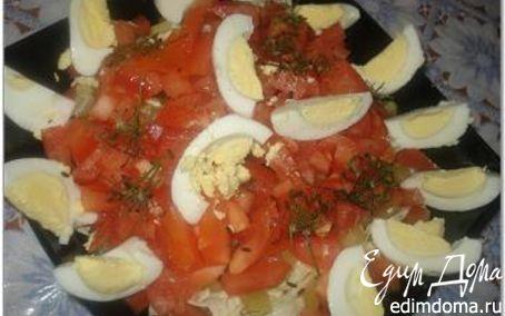 """Рецепт Салат """"Рыбка в плену"""" (с консервированным тунцом)"""