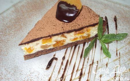Рецепт Чизкейк с белым шоколадом, курагой и ромом.