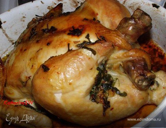 Курица, запеченная с лимоном и эстрагоном
