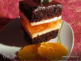 """Торт """"Шоколадный с мандариновой прослойкой"""""""