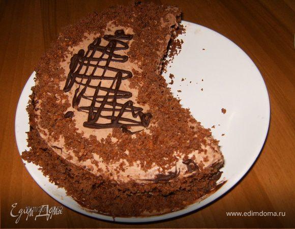 торт Дежавю (шоколадный с масляным кремом)