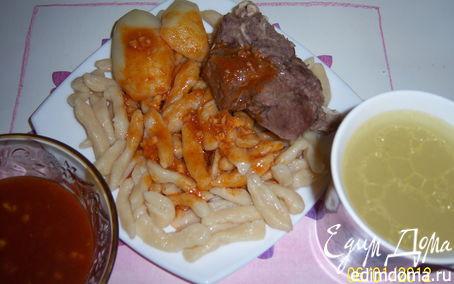 Рецепт Галушки с мясом