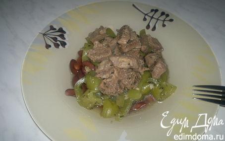 Рецепт Фасолевая похлебка с говядиной и зеленым перцем.