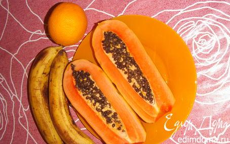 Рецепт Салат из папайи, бананов и апельсина