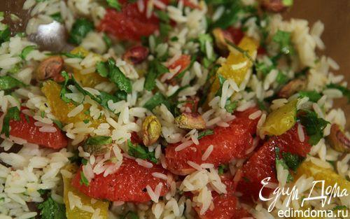 Рецепт Цитрусовый салат с рисом