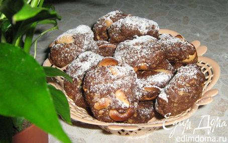 Рецепт Овсяные хлопья с шоколадом и орехами