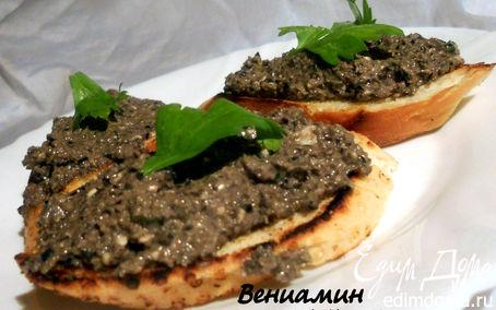 Рецепт Брускетта с оливковой пастой