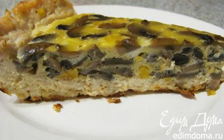 Рецепт Куриное лукошко с грибным омлетом