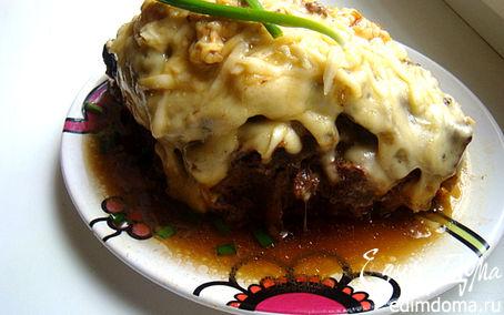 Рецепт Печень говяжья, запеченная под сырной шапкой