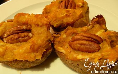 Рецепт Сладкий картофель (батат), фаршированный яблоками и орехами пекан