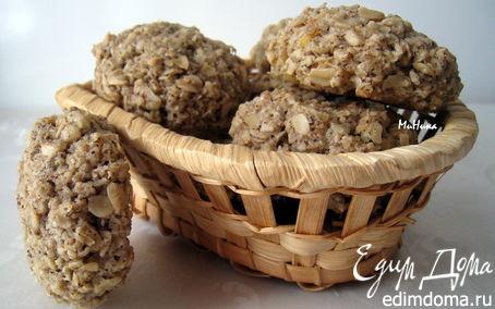 Рецепт Овсяное печенье с кофе и лимонной цедрой