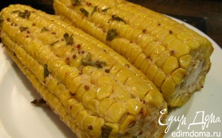 Рецепт Кукуруза, запеченная с соусом из хрена и горчицы