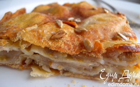 Рецепт Пирог с яблоками, злаковыми хлопьями и семечками