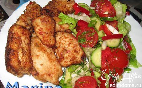 Рецепт Кусочки куриной грудки в маринаде