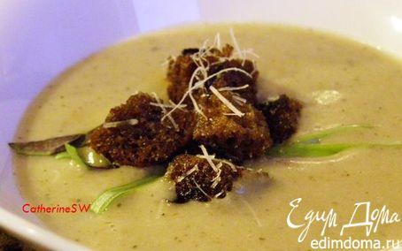 Рецепт – Суп-пюре с белыми грибами