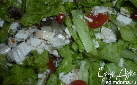 Рецепт Салат с опятами и курицей